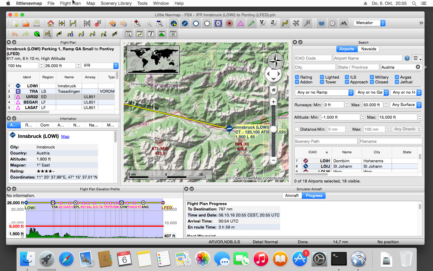 Little Navmap on Apple macOS